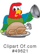 Royalty-Free (RF) parrot mascot Clipart Illustration #49621