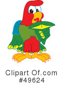 Parrot Mascot Clipart #49624 by Toons4Biz
