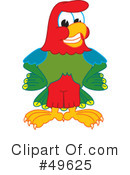 Parrot Mascot Clipart #49625 by Toons4Biz