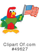 Parrot Mascot Clipart #49627 by Toons4Biz