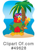 Parrot Mascot Clipart #49628 by Toons4Biz