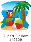 Royalty-Free (RF) Parrot Mascot Clipart Illustration #49629