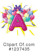Party Alphabet Clipart #1237435 by Graphics RF