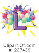 Party Alphabet Clipart #1237439 by Graphics RF