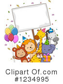 Royalty-Free (RF) Party Animals Clipart Illustration #1234995