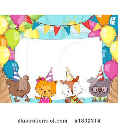 Royalty-Free (RF) Party Animals Clipart Illustration by BNP Design Studio - Stock Sample #1332314