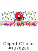 Royalty-Free (RF) Party Balloon Character Clipart Illustration #1376200