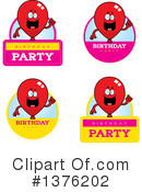 Party Balloon Character Clipart #1376202 by Cory Thoman