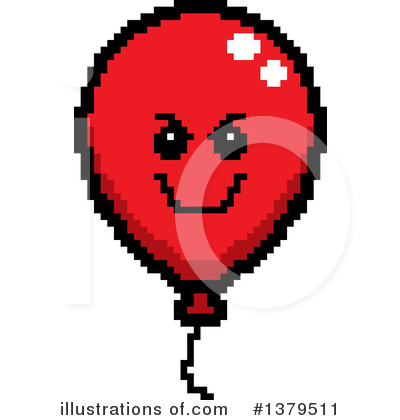 Party Balloon Character Clipart #1379511 by Cory Thoman