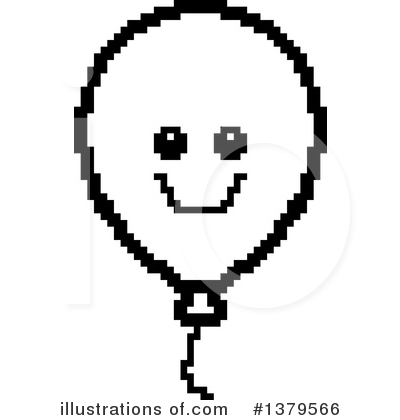 Party Balloon Character Clipart #1379566 by Cory Thoman