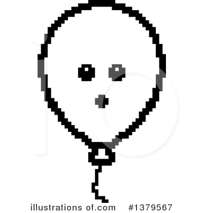 Party Balloon Character Clipart #1379567 by Cory Thoman