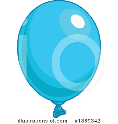 Blue Party Balloon Clipart #1389342 by Pushkin