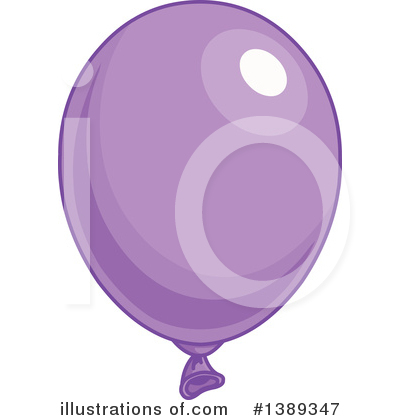 Purple Party Balloon Clipart #1389347 by Pushkin