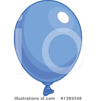 Blue Party Balloon Clipart #1389348 by Pushkin