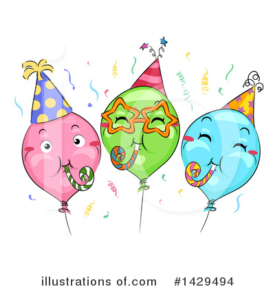 Party Balloons Clipart #1429494 by BNP Design Studio
