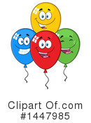 Party Balloon Clipart #1447985 by Hit Toon