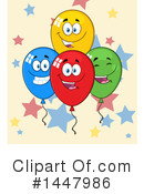 Party Balloon Clipart #1447986 by Hit Toon