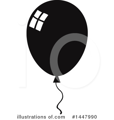 Balloons Clipart #1447990 by Hit Toon