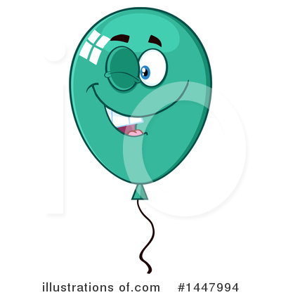 Royalty-Free (RF) Party Balloon Clipart Illustration by Hit Toon - Stock Sample #1447994