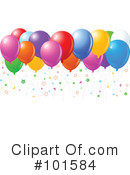 Party Balloons Clipart #101584 by Pushkin