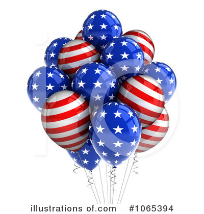 American Flag Clipart #1065394 by stockillustrations