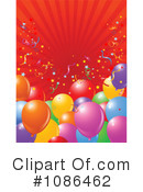 Party Balloons Clipart #1086462 by Pushkin
