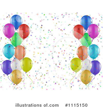 Party Balloons Clipart #1115150 by KJ Pargeter