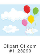 Party Balloons Clipart #1128299 by Graphics RF
