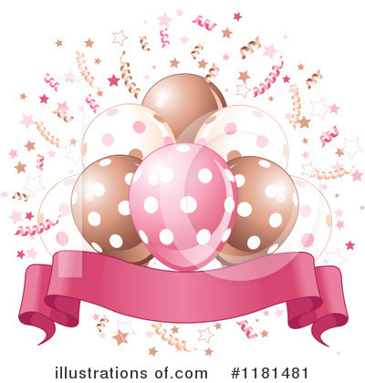 Royalty-Free (RF) Party Balloons Clipart Illustration by Pushkin - Stock Sample #1181481
