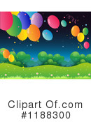 Party Balloons Clipart #1188300 by Graphics RF