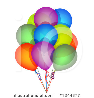 Balloons Clipart #1244377 by vectorace