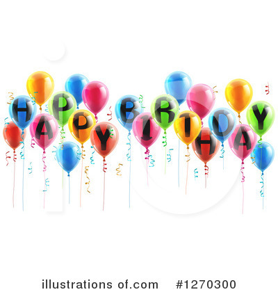 Party Balloons Clipart #1270300 by AtStockIllustration