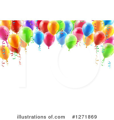 Party Balloons Clipart #1271869 by AtStockIllustration
