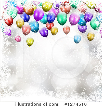 Party Balloons Clipart #1274516 by KJ Pargeter