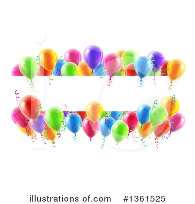 Party Balloons Clipart #1361525 by AtStockIllustration