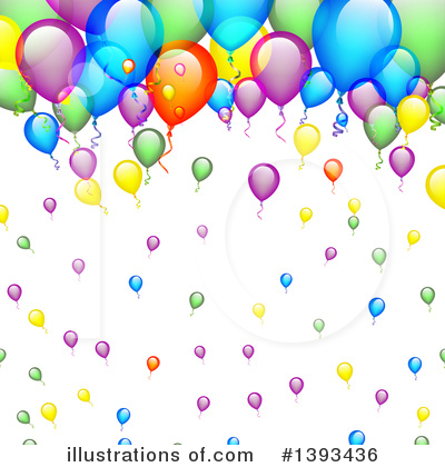 Balloons Clipart #1393436 by vectorace
