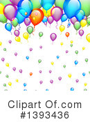 Party Balloons Clipart #1393436 by vectorace