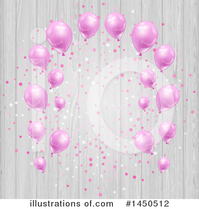 Royalty-Free (RF) Party Balloons Clipart Illustration by KJ Pargeter - Stock Sample #1450512
