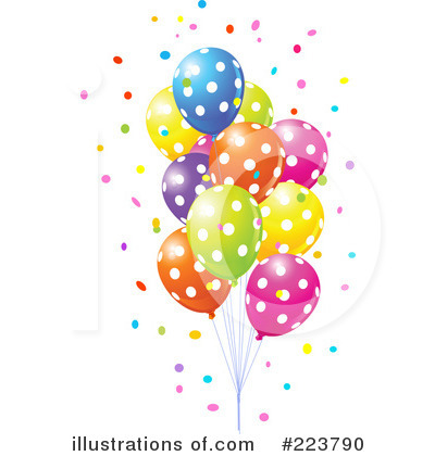 party balloons clipart 223790 illustration by pushkin rh illustrationsof com party decor clipart party decor clipart
