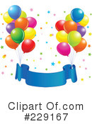 Royalty-Free (RF) Party Balloons Clipart Illustration #229167