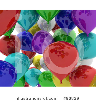 Party Balloons Clipart #96839 by KJ Pargeter