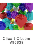 Party Balloons Clipart #96839