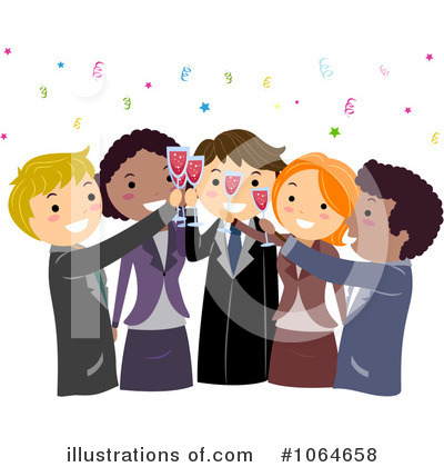 Business Team Clipart #1064658 by BNP Design Studio