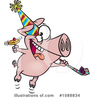 Pig Clipart #1088834 by toonaday