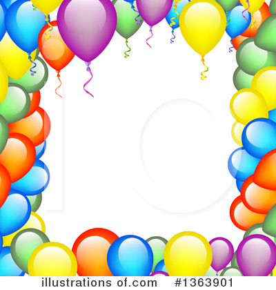 Balloons Clipart #1363901 by vectorace