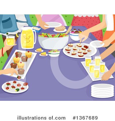 Royalty-Free (RF) Party Clipart Illustration by BNP Design Studio - Stock Sample #1367689