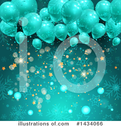 Party Balloons Clipart #1434066 by KJ Pargeter