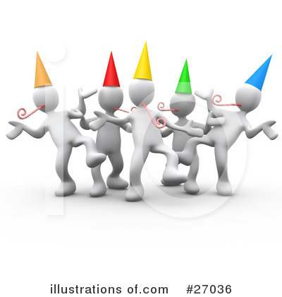 Royalty-Free (RF) Party Clipart Illustration by 3poD - Stock Sample #27036