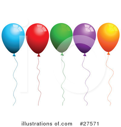 Party Balloons Clipart #27571 by KJ Pargeter