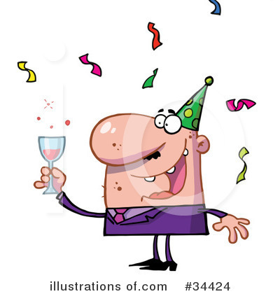 New Year Clipart #34424 by Hit Toon